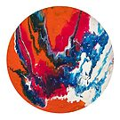 Round Fluid Art by Maria Meester