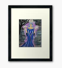 Triple Moon Goddess Framed Print