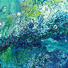 Blue Fluid Art Painting by Maria Meester