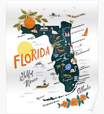 State of Florida Artwork / Poster - Vintage and Unique Poster