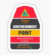 Southernmost Punktboje Key West Sticker