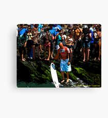 The King of Surf Canvas Print