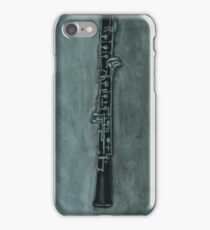 Oboe Charcoal Drawing iPhone Case/Skin
