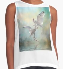 Duelling White Ibises Contrast Tank