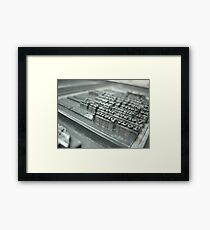 Typesetting Framed Print