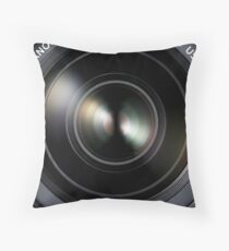 Canon DSLR Camera EOS Lens Throw Pillow