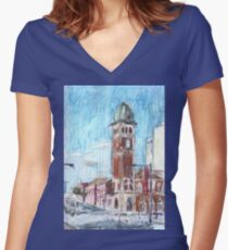 Redfern Street Women's Fitted V-Neck T-Shirt