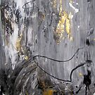 Beating Gold Air, original abstract painting by Dmitri Matkovsky