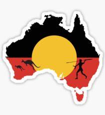 Australian Aboriginal Hunter - Kangaroo Sticker