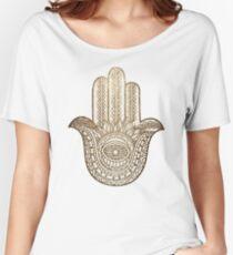 Golden Hamsa Hand Women's Relaxed Fit T-Shirt
