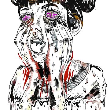 Drop Out - Psychedelic Illustration  by MarshallArtt