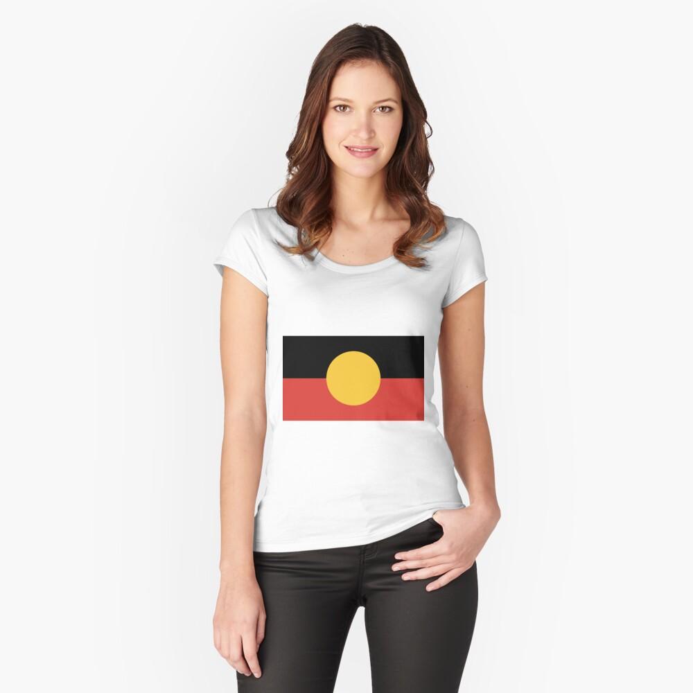 Australian Aboriginal Flag Fitted Scoop T-Shirt