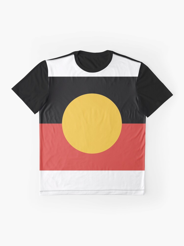 Alternate view of Australian Aboriginal Flag Graphic T-Shirt