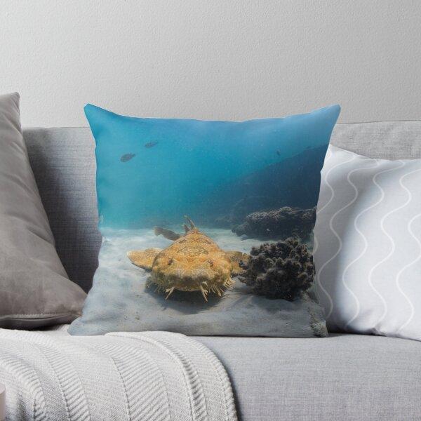 Wobbegong, Tangalooma Wrecks Throw Pillow