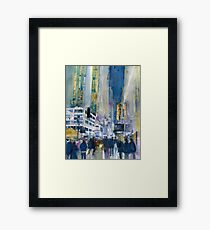Midnight on Broadway Framed Print