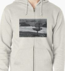 Chair of Oceanography (bw) Zipped Hoodie