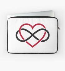 Infinity heart, never ending love Laptop Sleeve