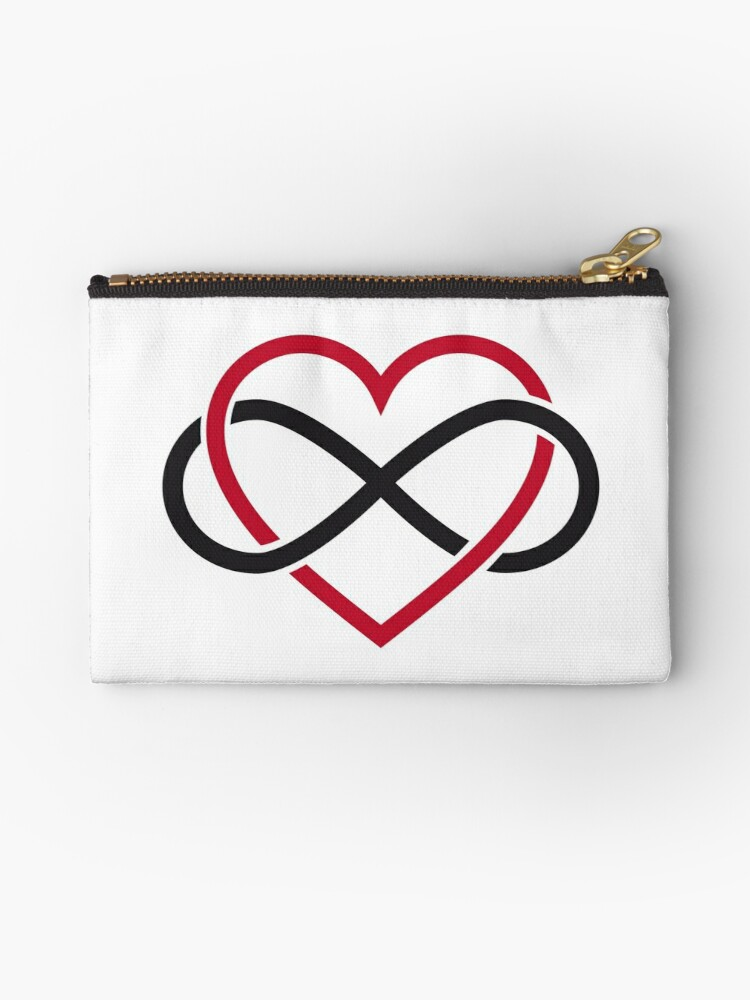 Infinity Heart Never Ending Love Studio Pouches By Beakraus