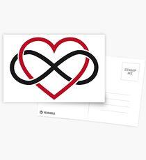 Infinity heart, never ending love Postcards