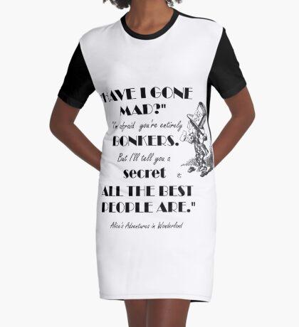 Cita de Alicia en el país de las maravillas - Sombrerero loco Vestido camiseta