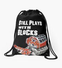 Still Plays With Blocks Drawstring Bag