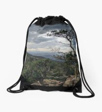 Impending Thunderstorm in the Mountains Drawstring Bag
