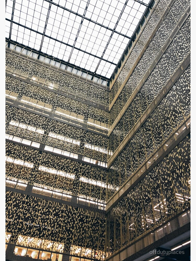 Bobst Library NYU Geometric Architecture | Spiral Notebook