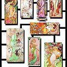 Alphonse Mucha Collage 01 by xzendor7