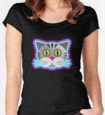Cat vector Women's Fitted Scoop T-Shirt