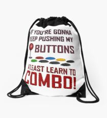 Learn to combo Fight stick Shirt Drawstring Bag
