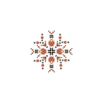 Nutcracker Tiled Snowflake Design by kacikw