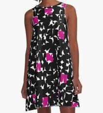 Geometric Black A-Line Dress