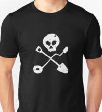 Detectorist Skull - Sondengaenger Schaedel  T-Shirt
