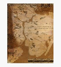 Fantasy Map of New York City: Gritty Parchment Photographic Print