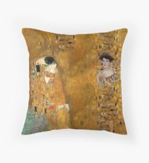 Klimt -  Woman in Gold - The Kiss Throw Pillow