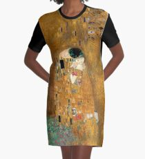 Klimt -  Woman in Gold - The Kiss Graphic T-Shirt Dress