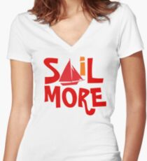 Sail More Nautical Sailing tee Women's Fitted V-Neck T-Shirt