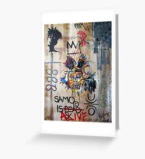 In memory Basquiat Greeting Card
