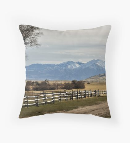 Scenic Mounain Vista Throw Pillow