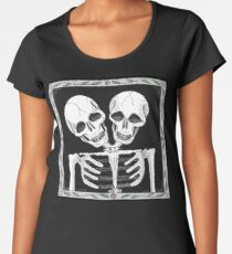 SIAMESE SKULLS VERSION TWO - Art By Kev G Women's Premium T-Shirt