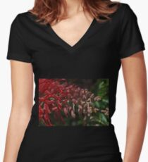 Really Red Great Grevillea Women's Fitted V-Neck T-Shirt