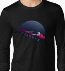 Starman Spacex Falcon Heavy Tesla Long Sleeve T-Shirt