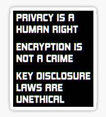 Privacy and Encryption Sticker