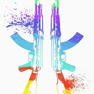 Rainbow AK-47s by LouSiefer