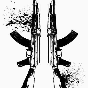 AKs in Black by LouSiefer