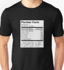 Nutrition Facts | Funny Plumber Gift Unisex T-Shirt