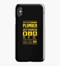 Funny Plumber Safety Information iPhone Case
