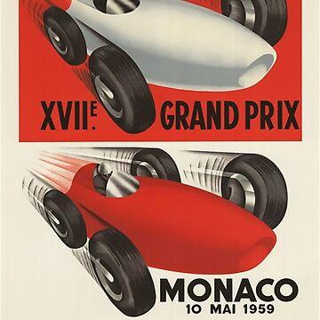 Vintage motor racing Grand Prix - Circa 1958 by marlenewatson