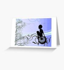 Listless Blue Muse  Greeting Card
