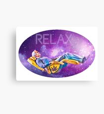 Relaxing Galaxy  Canvas Print